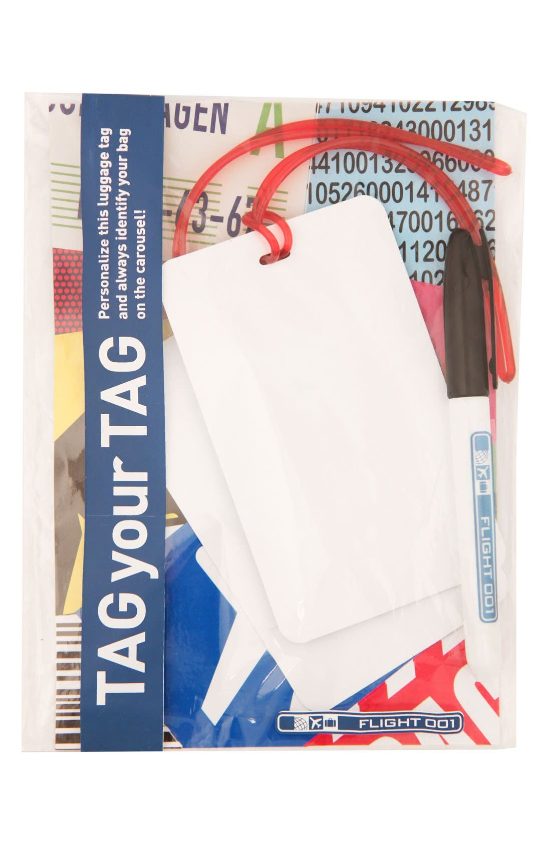 Alternate Image 1 Selected - Flight 001 'Tag Your Tag' Luggage Tags (Set of 2)