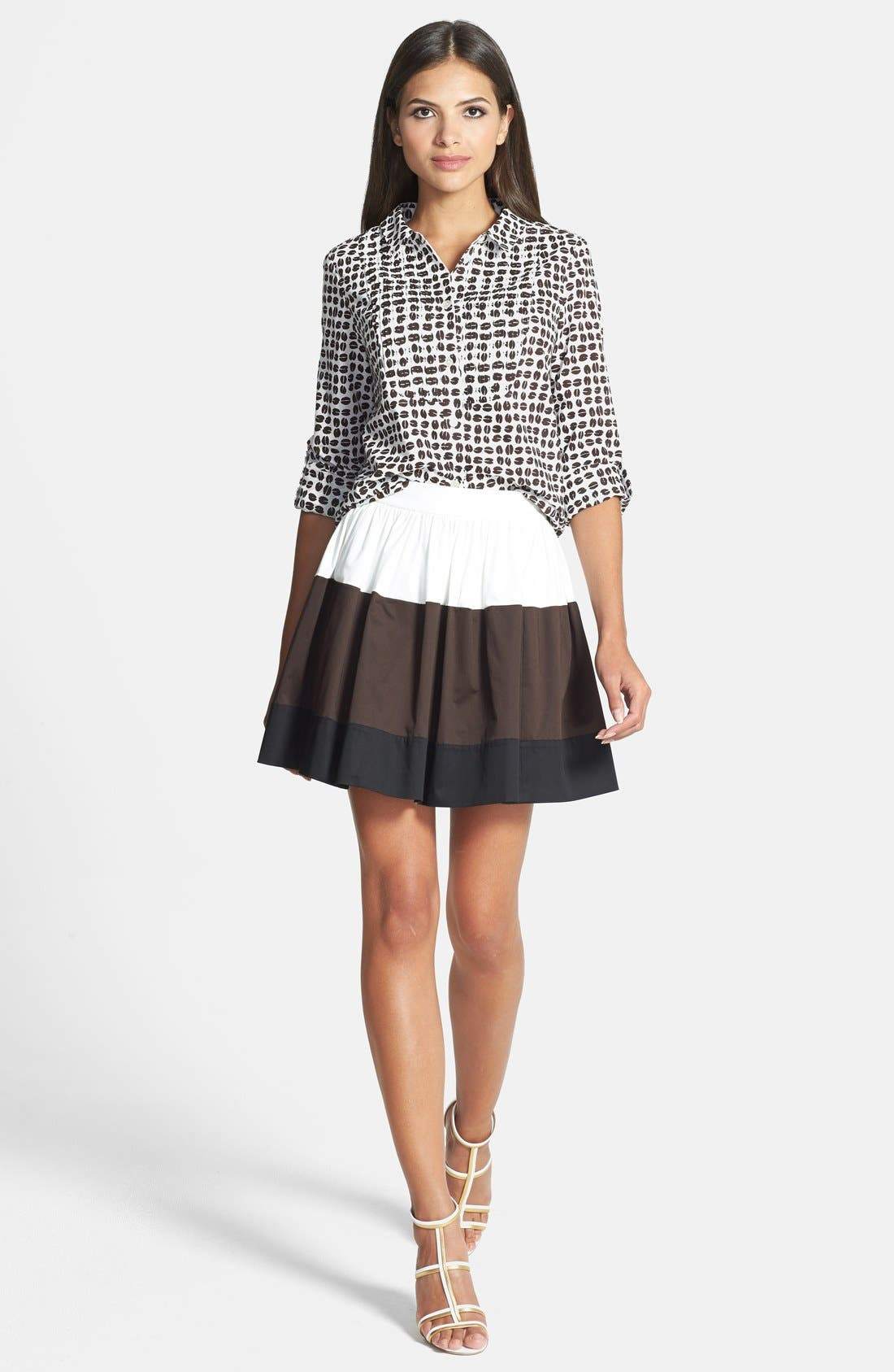 Alternate Image 4  - kate spade new york 'coreen' colorblock skirt
