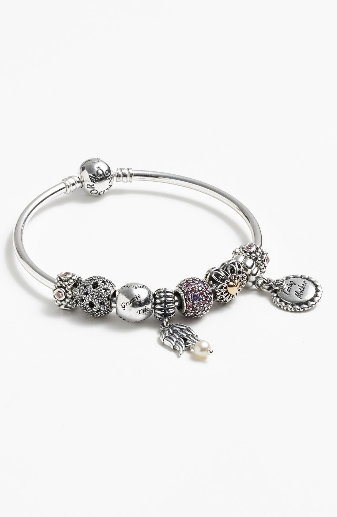 Alternate Image 2  - PANDORA 'Shimmering Lace' Open Bead Charm