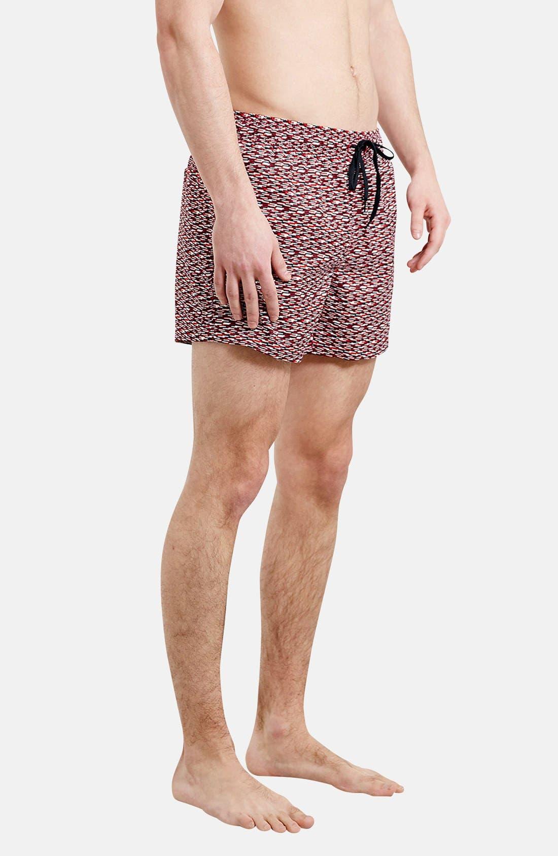 Main Image - Topman Dash Print Swim Trunks