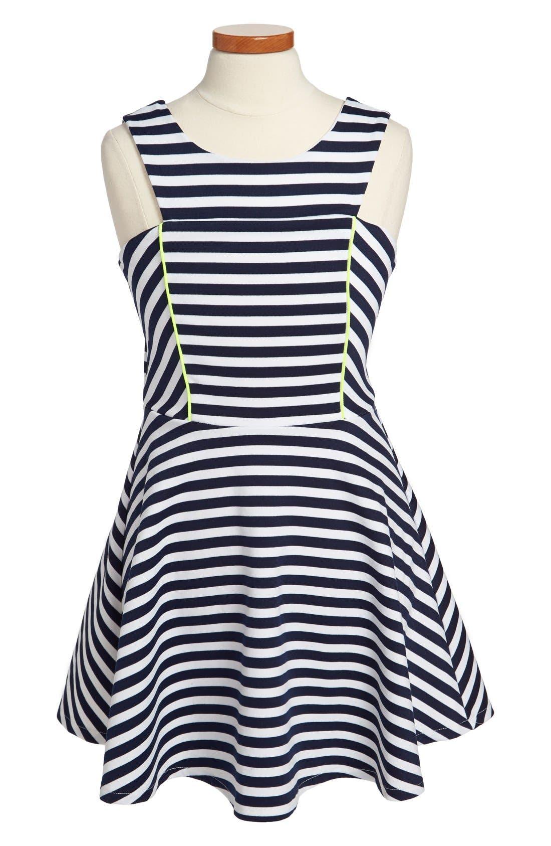 Alternate Image 1 Selected - Sally Miller 'The West Palm' Stripe Dress (Big Girls)