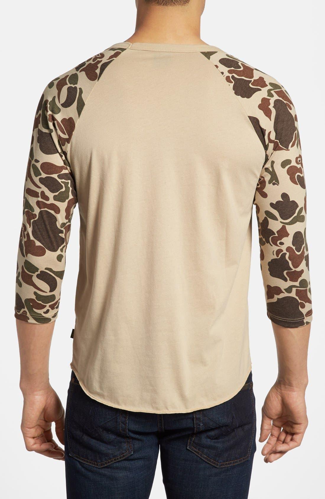 Alternate Image 2  - Obey 'Camo' Baseball T-Shirt