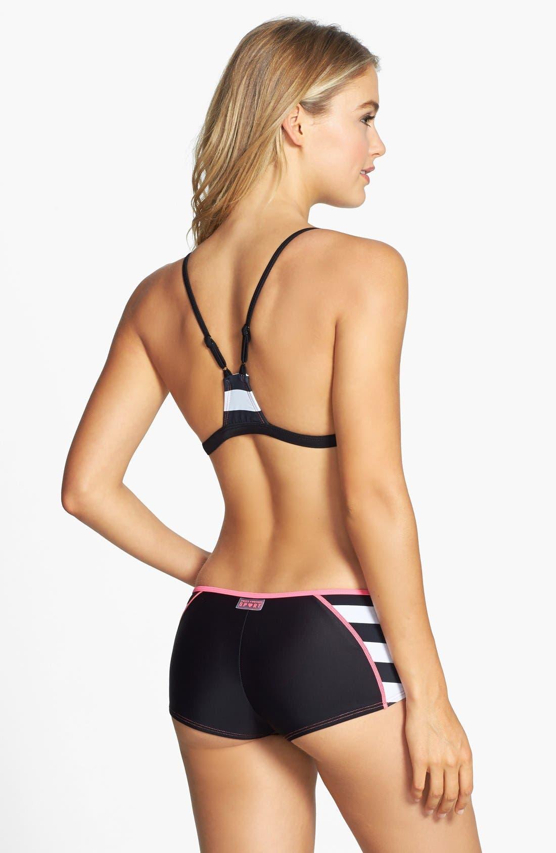 Alternate Image 4  - Juicy Couture Beach 'Promenade' Stripe Colorblock Racerback Bikini Top