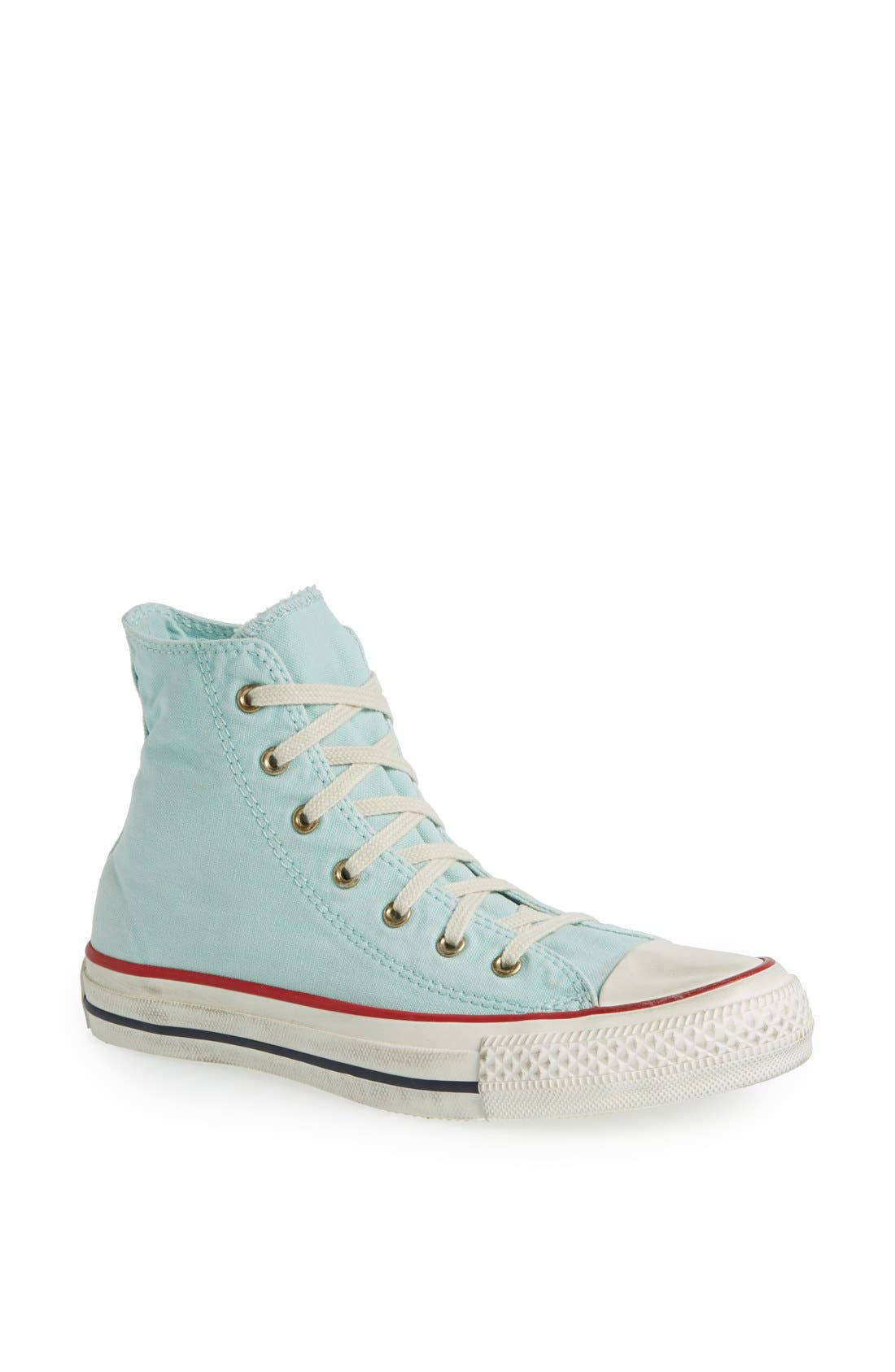 Main Image - Converse Chuck Taylor® All Star® Washed Canvas High Top Sneaker (Women)
