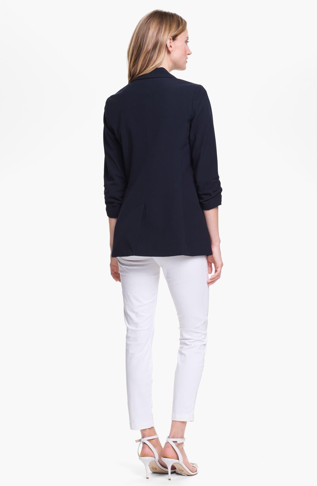 Alternate Image 5  - MICHAEL Michael Kors Ruched Sleeve Boyfriend Jacket (Regular & Petite)
