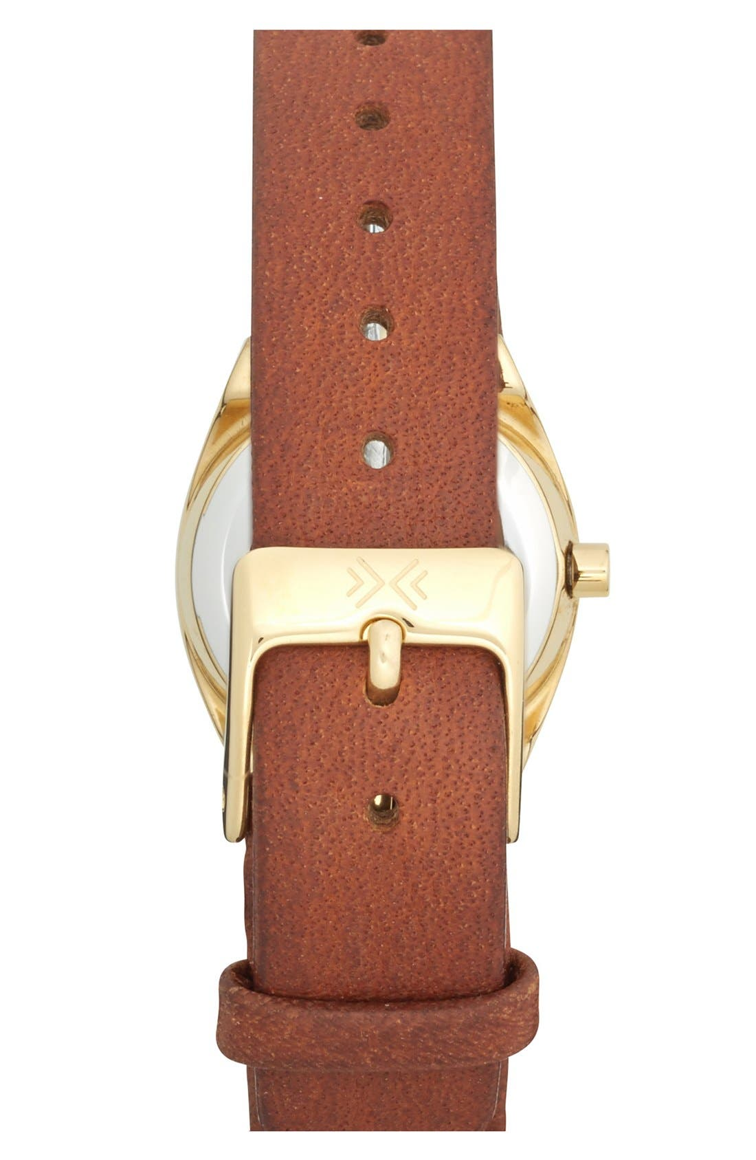 Alternate Image 2  - Skagen 'Asta' Crystal Bezel Leather Strap Watch, 22mm (Nordstrom Exclusive)