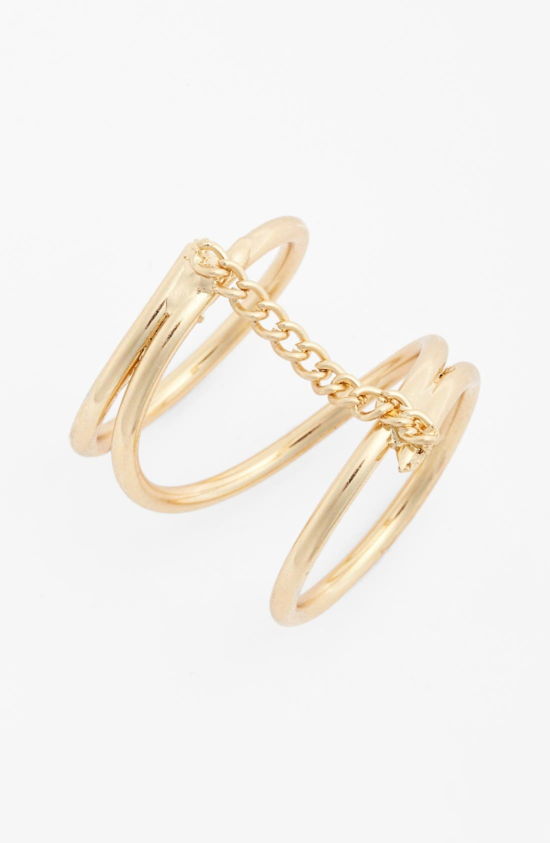 Main Image - Topshop Chain Link Wrap Ring