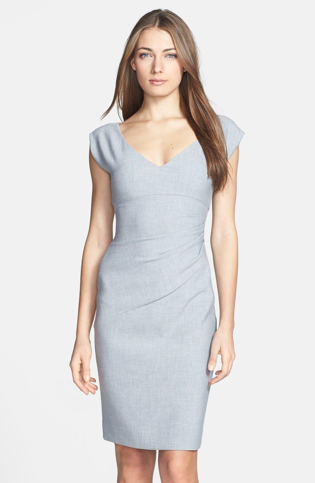 Main Image - Diane von Furstenberg 'Bevin' Ruched Knit Sheath Dress