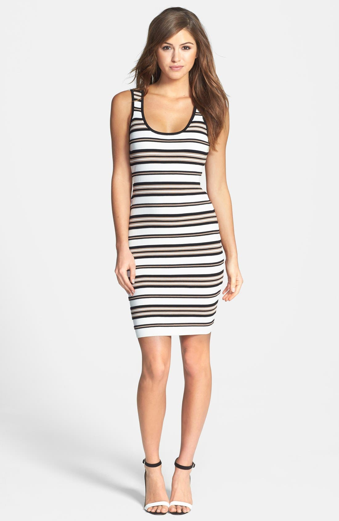 Alternate Image 3  - Felicity & Coco Stripe Rib Knit Body-Con Dress (Nordstrom Exclusive)