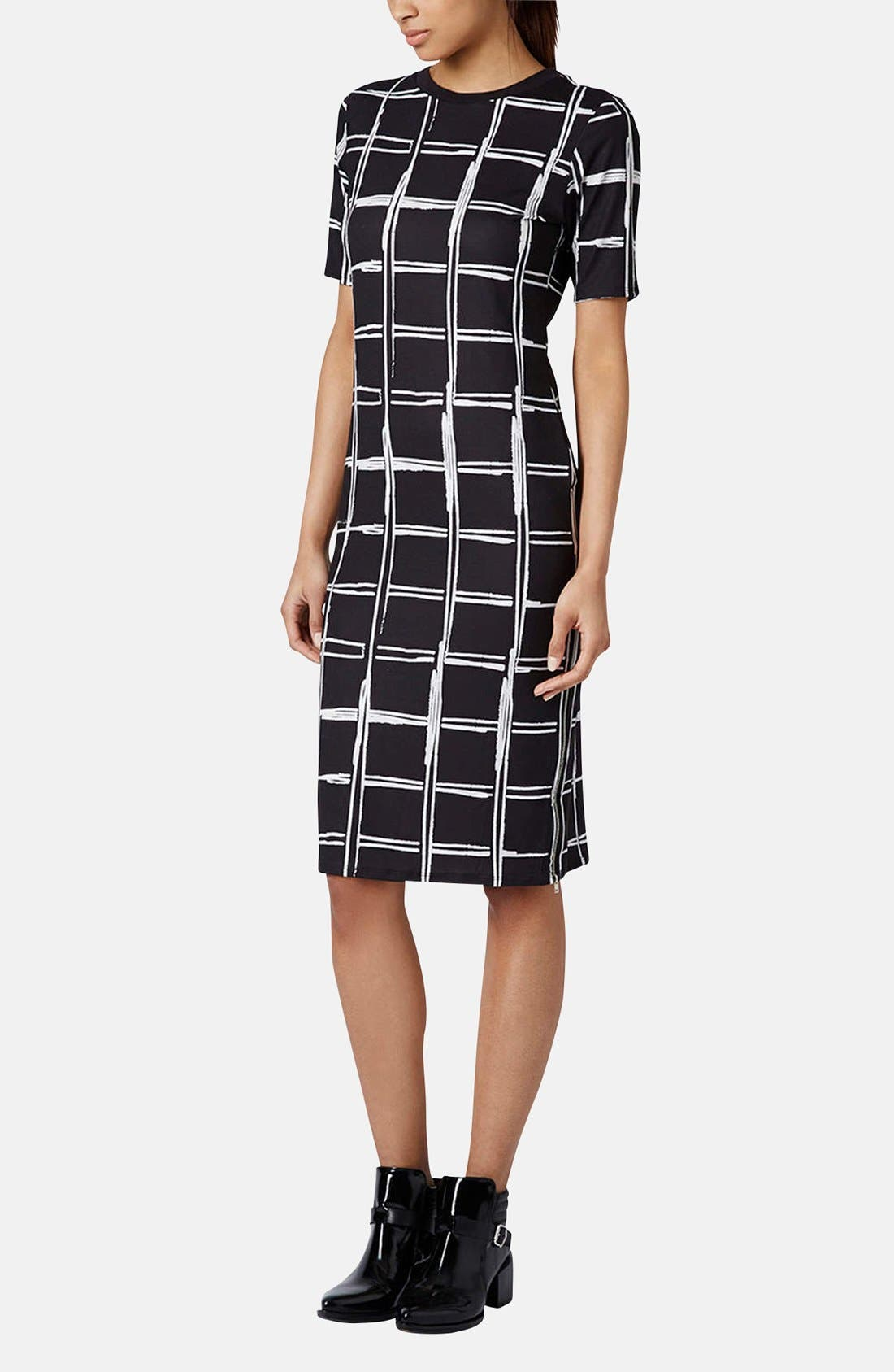 Alternate Image 5  - Topshop Grid Pattern Midi Dress
