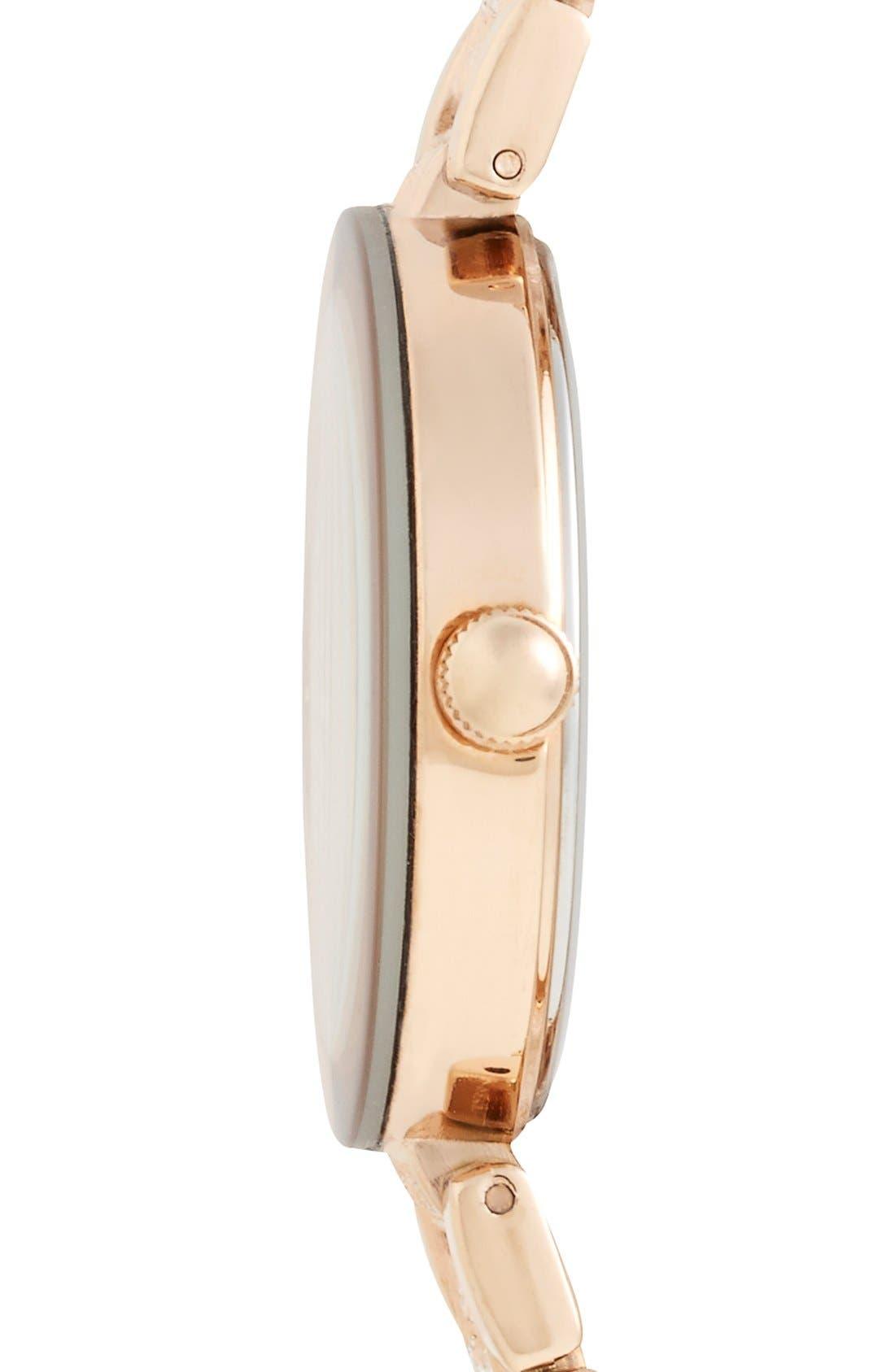 Alternate Image 3  - Anne Klein Pavé Crystal Bracelet Watch, 32mm