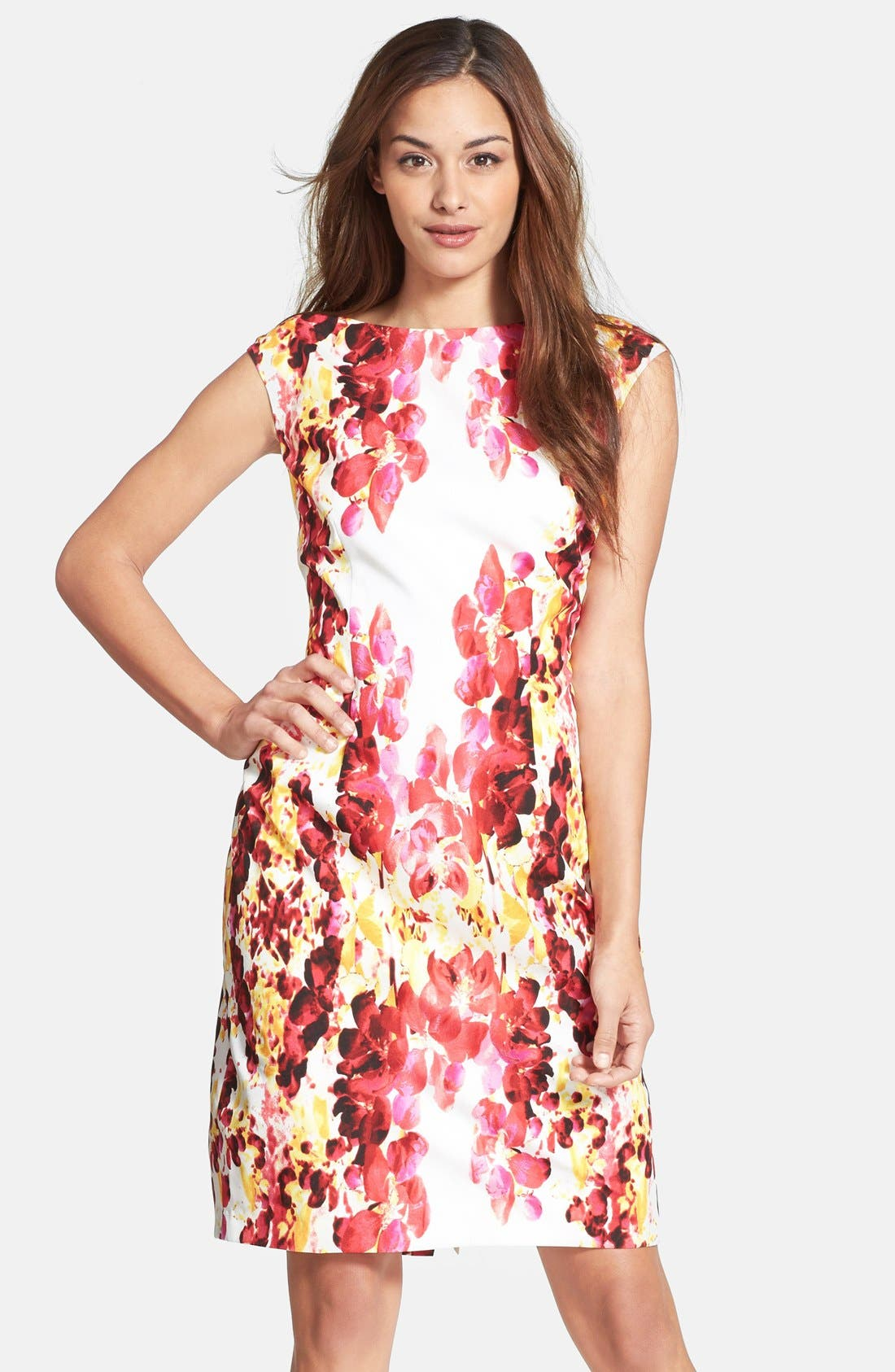 Main Image - Adrianna Papell Floral Print Sheath Dress