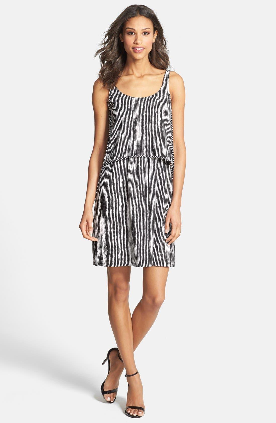 Alternate Image 3  - Ivy & Blu Stripe Popover Tank Shift Dress