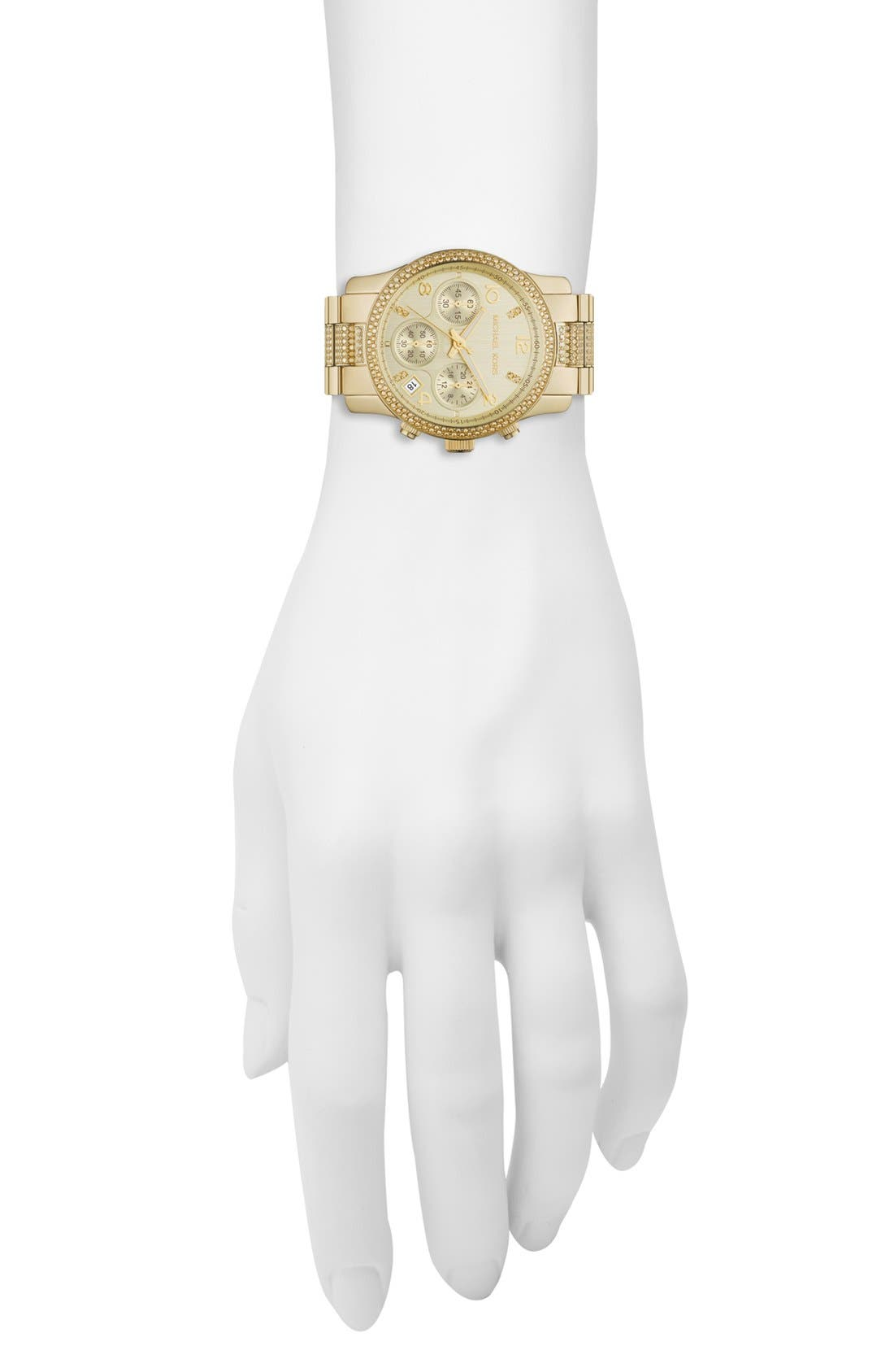 Alternate Image 2  - Michael Kors 'Runway' Crystal Chronograph Bracelet Watch, 38mm