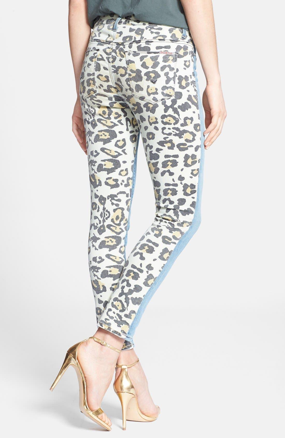Alternate Image 2  - Hudson Jeans 'Patti' Print Back Skinny Jeans (Posterior Prey)
