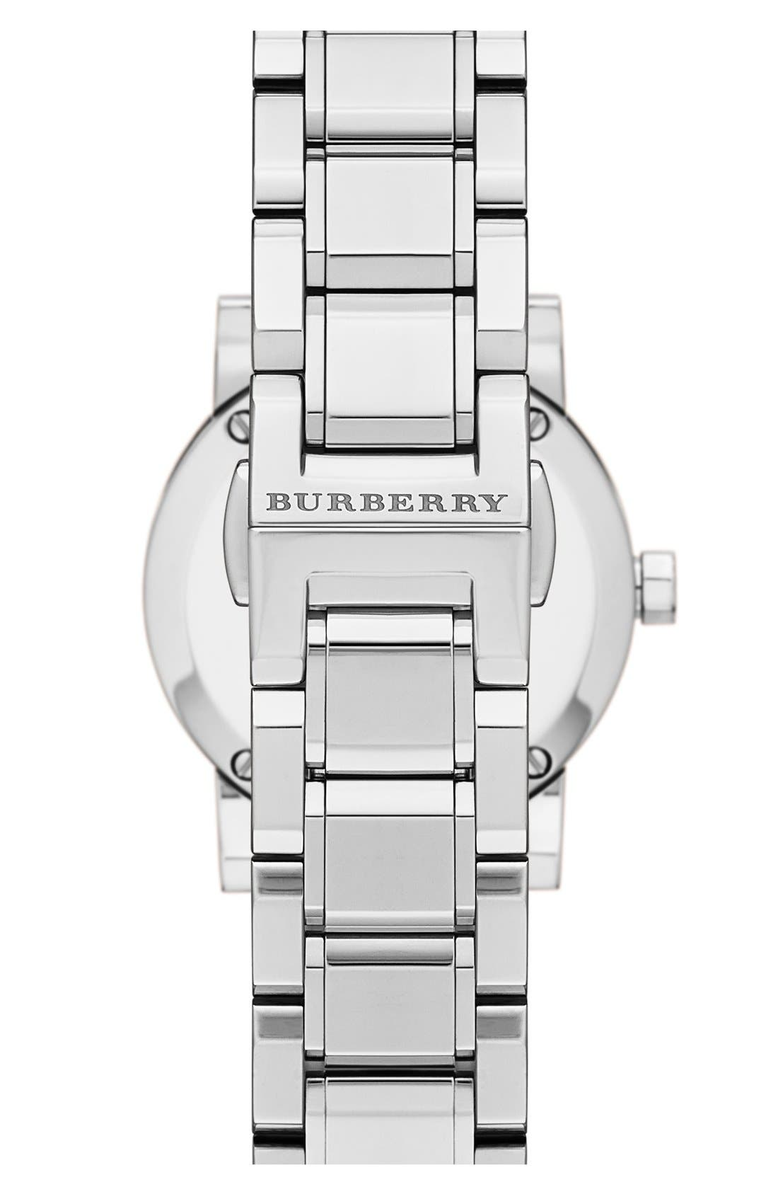 Alternate Image 2  - Burberry 'New Classic' Small Diamond Dial Bracelet Watch, 26mm (Regular Retail Price: $695.00)