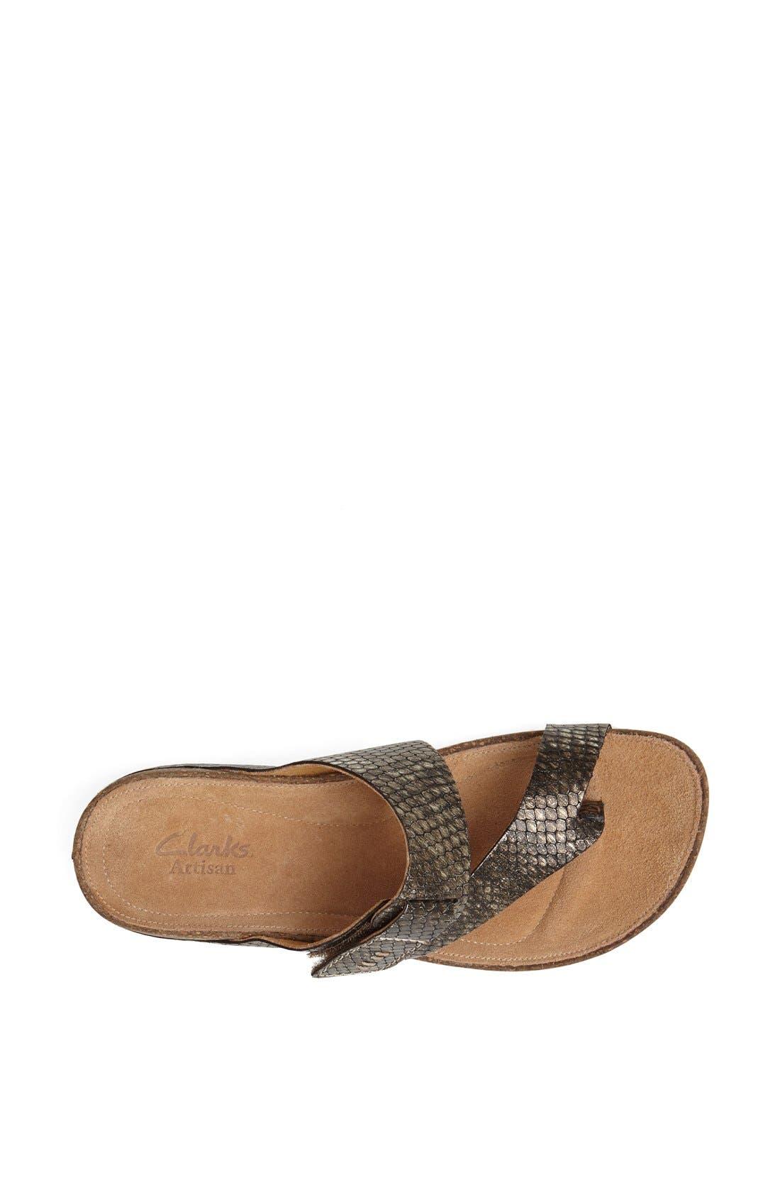 Alternate Image 3  - Clarks® 'Perri Coast' Leather Thong Sandal