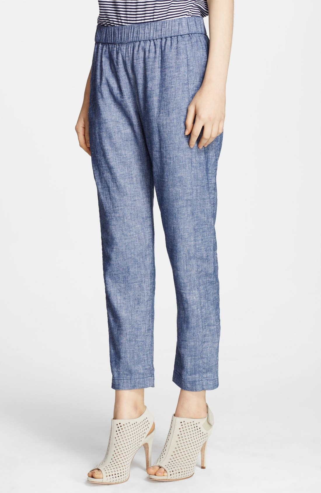 Main Image - Theory 'Korene' Crop Chambray Pants
