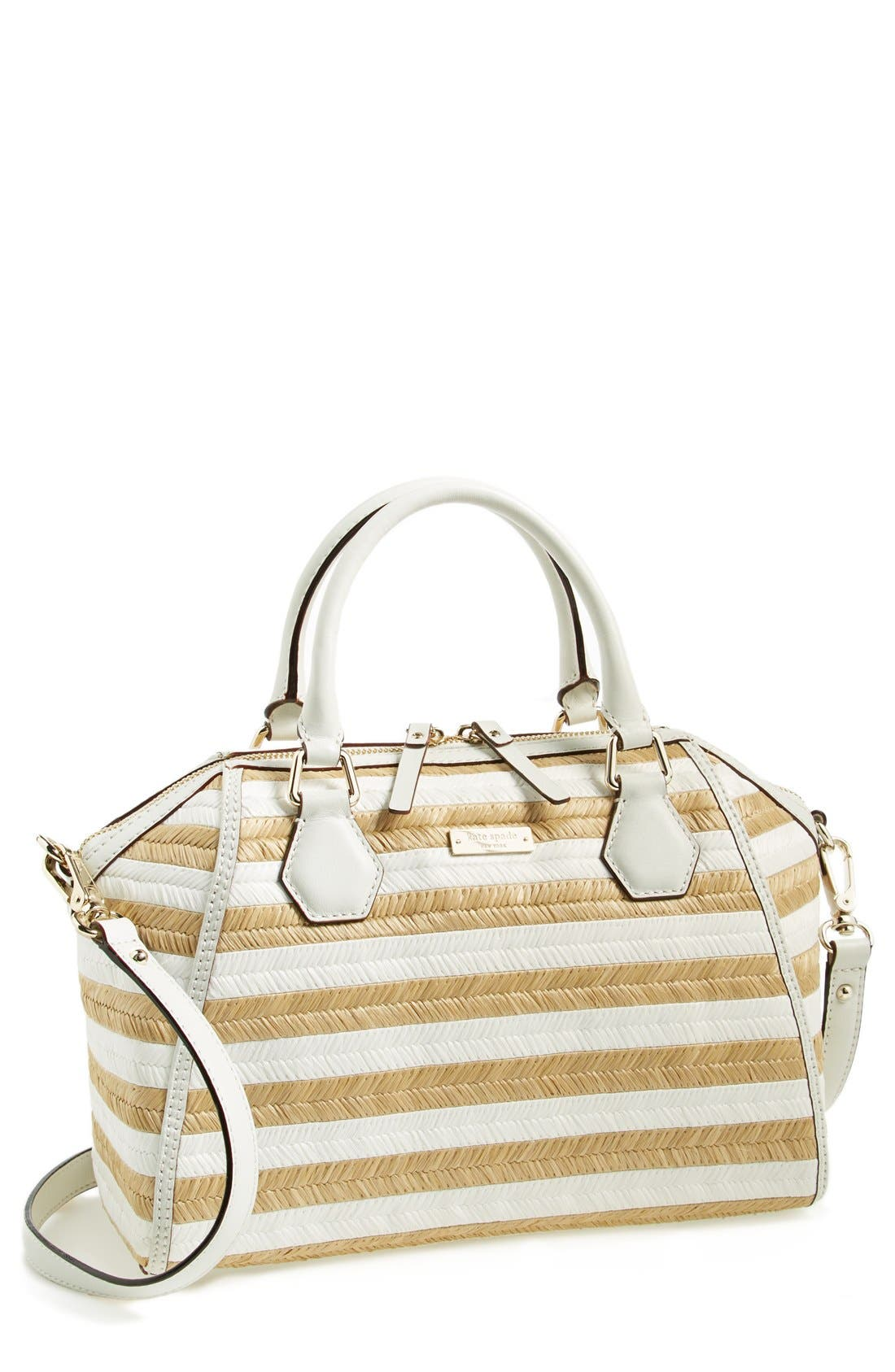 Alternate Image 1 Selected - kate spade new york 'pippa' straw satchel