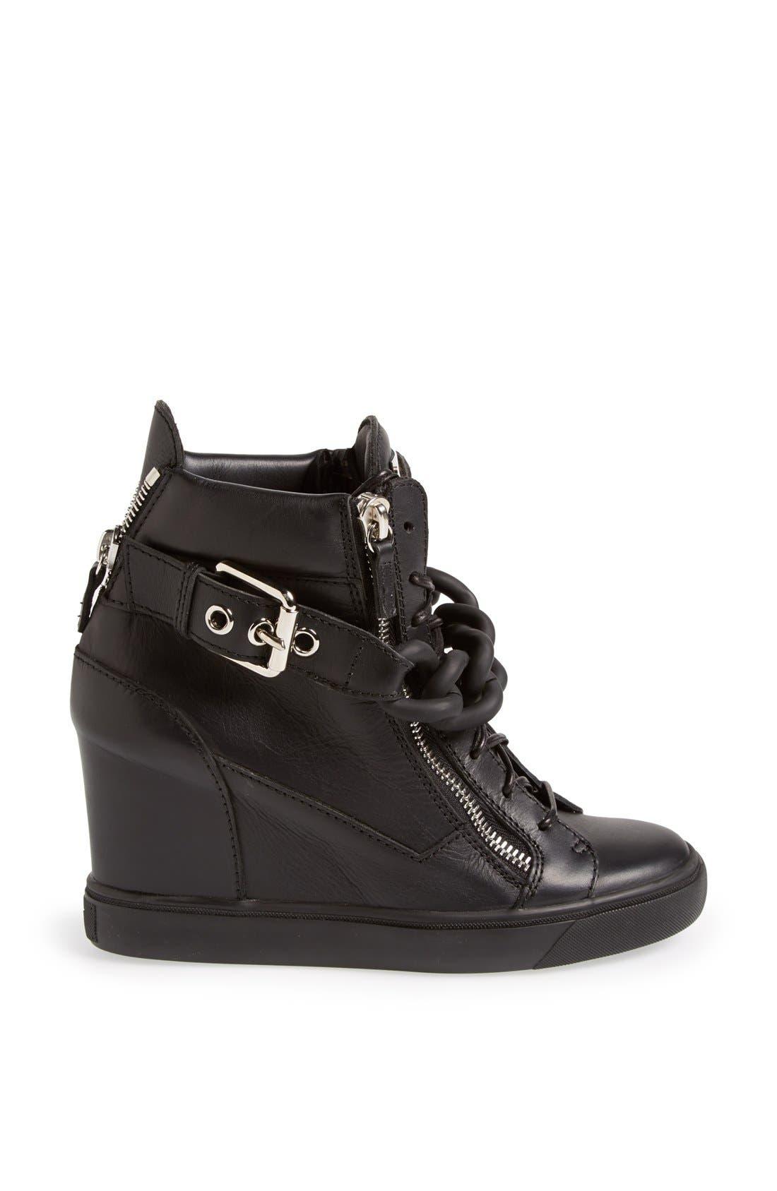 Alternate Image 4  - Giuseppe Zanotti High Top Wedge Sneaker