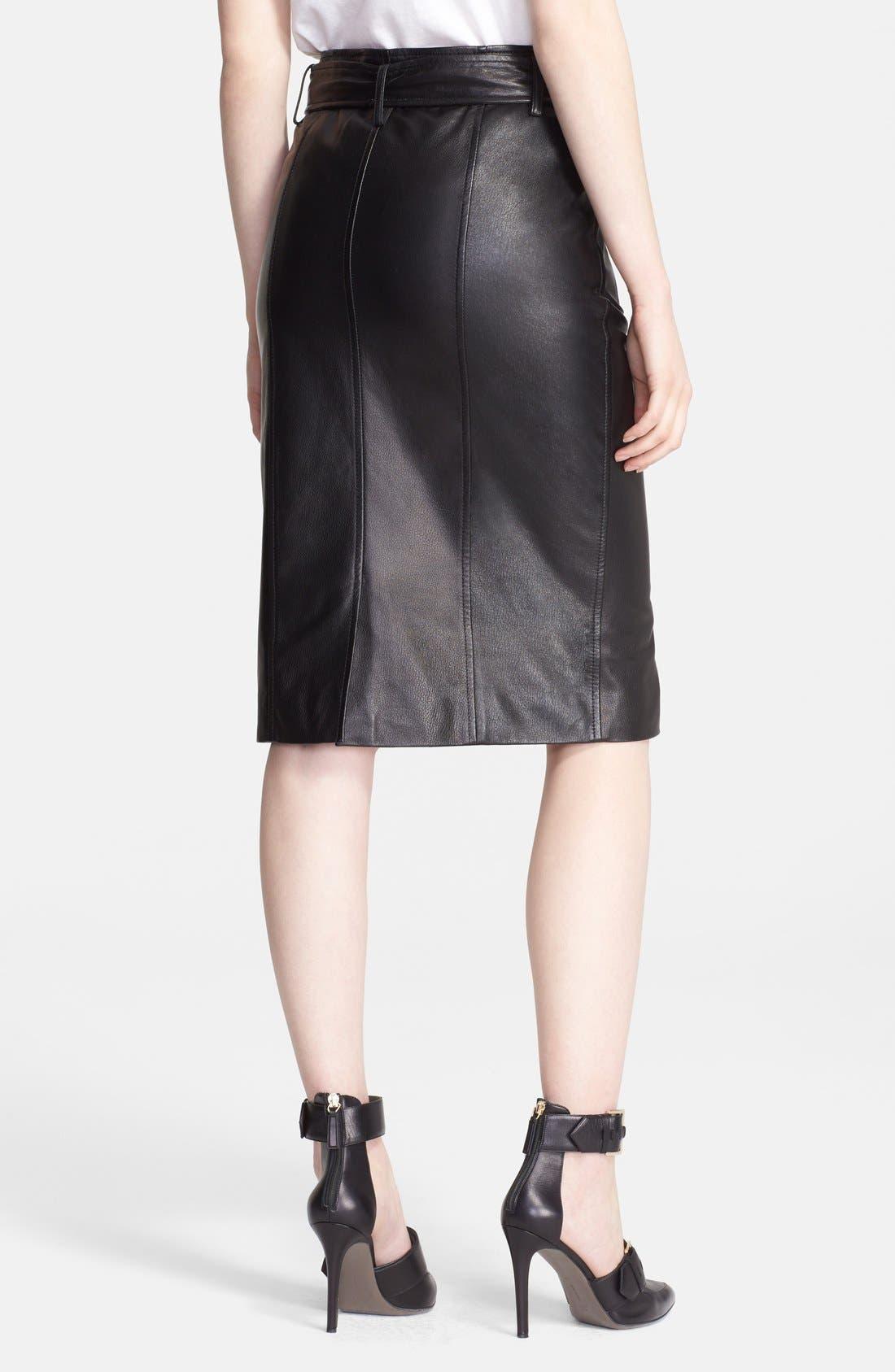 Alternate Image 2  - Jason Wu Zip Detail Leather Skirt
