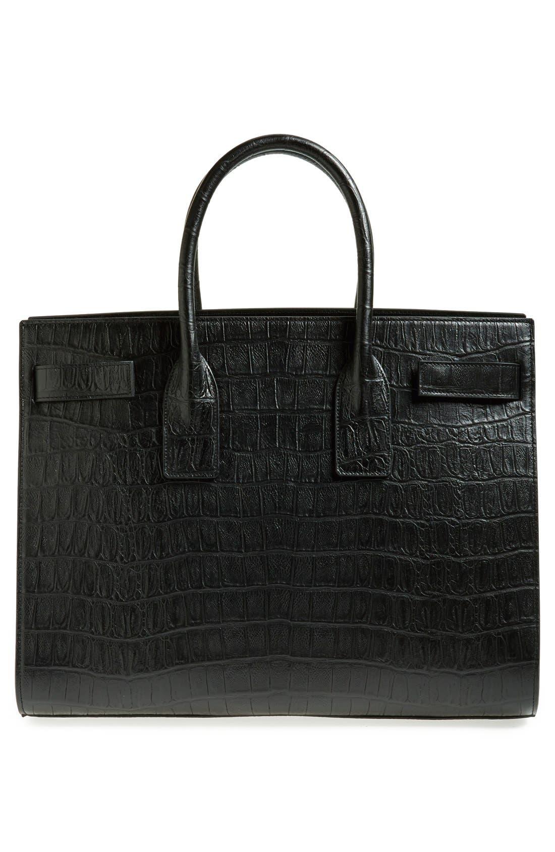 Alternate Image 4  - Saint Laurent 'Sac de Jour' Croc Embossed Leather Tote