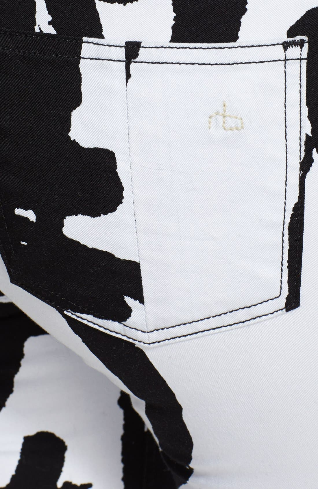 Alternate Image 3  - rag & bone/JEAN 'The Legging' Graphic Print Skinny Jeans (White Robot)