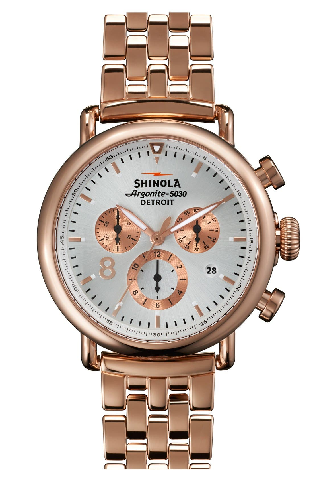 Alternate Image 1 Selected - Shinola 'The Runwell Contrast Chrono' Bracelet Watch, 41mm