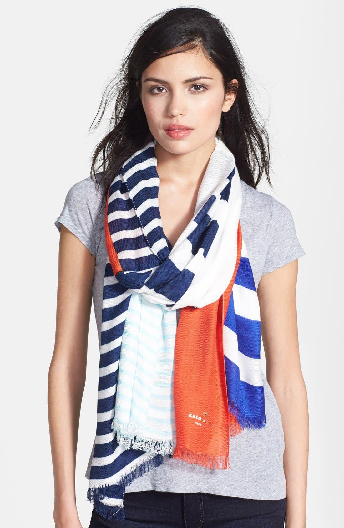 Alternate Image 1 Selected - kate spade new york 'monaco stripe' scarf