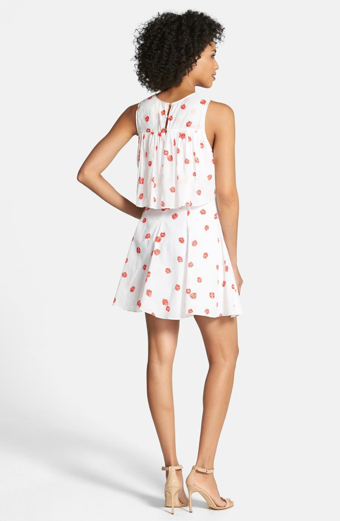 Alternate Image 2  - CeCe by Cynthia Steffe Print Popover Cotton Dress