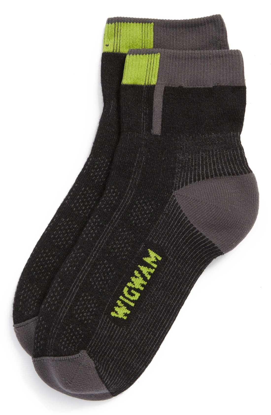 Alternate Image 1 Selected - Wigwam 'Rebel Fusion Quarter II' Quarter Socks (Men)