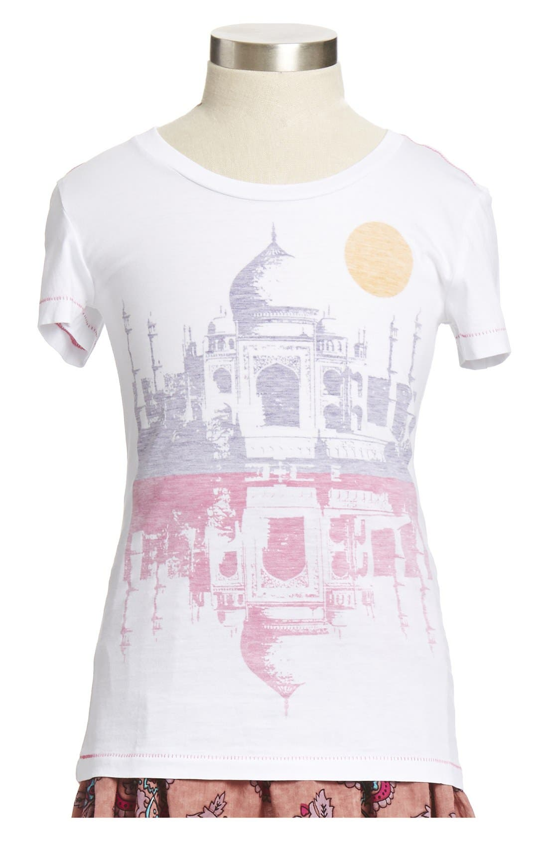 Alternate Image 1 Selected - Peek 'Taj Mahal' Pima Cotton Tee (Toddler Girls, Little Girls & Big Girls)