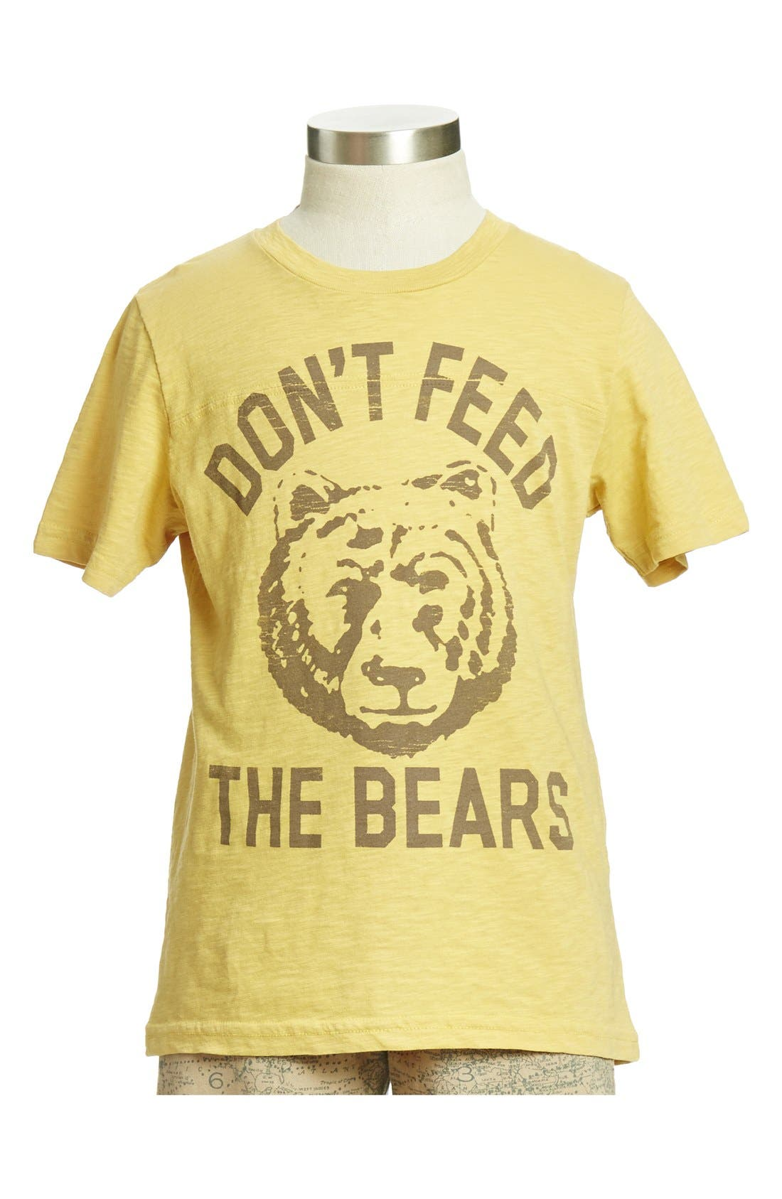 Main Image - Peek 'Don't Feed the Bears' Slub Cotton T-Shirt (Toddler Boys, Little Boys & Big Boys)