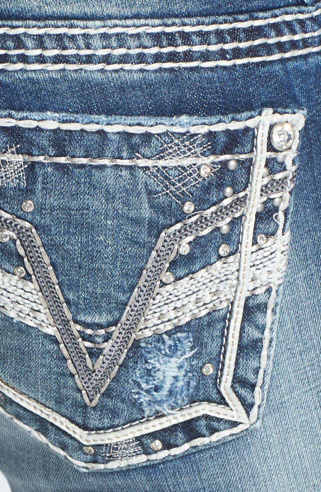 Alternate Image 3  - Vigoss Embellished Bootcut Jeans (Medium) (Juniors)
