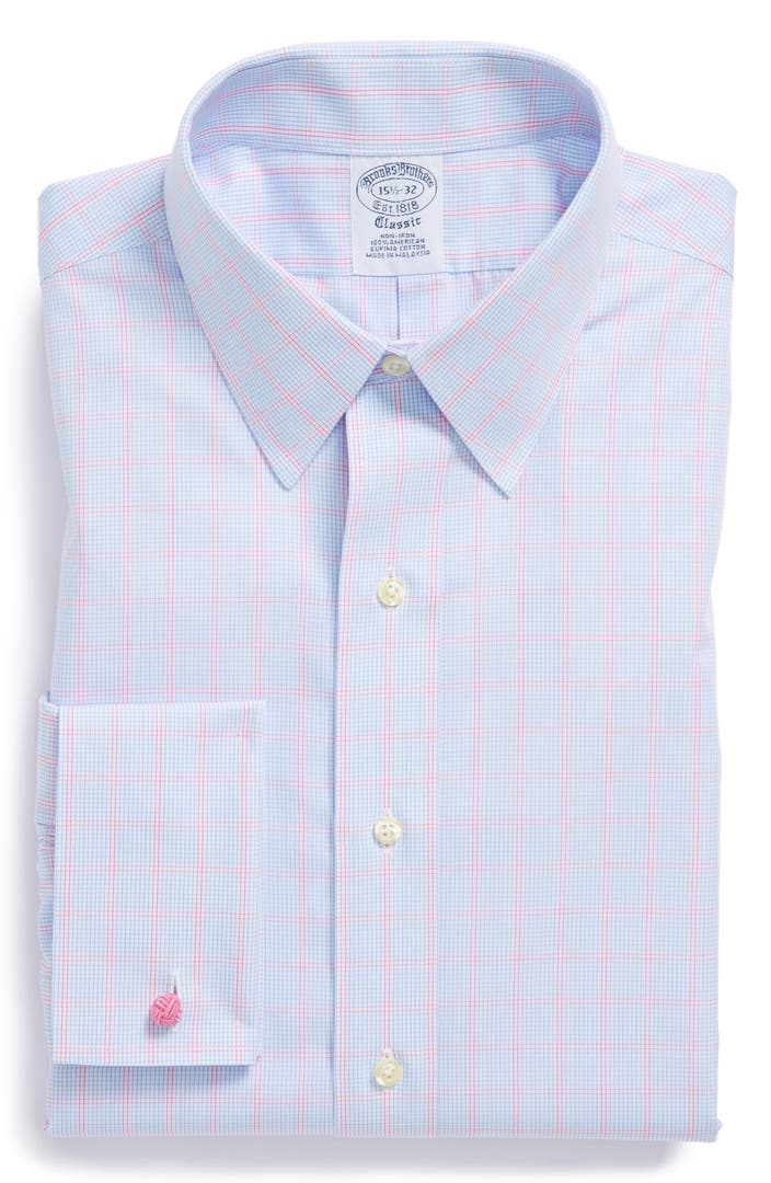 Brooks brothers slim fit non iron french cuff dress shirt for Brooks brothers non iron shirt review