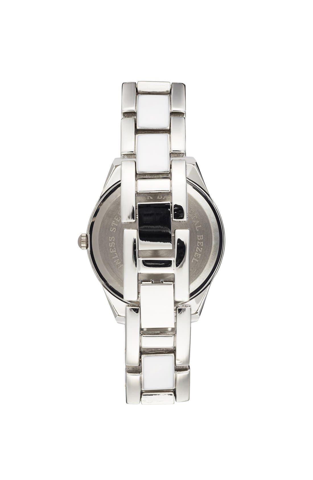 Alternate Image 2  - Titanium Rhinestone Detail Bracelet Watch, 33mm (Juniors)