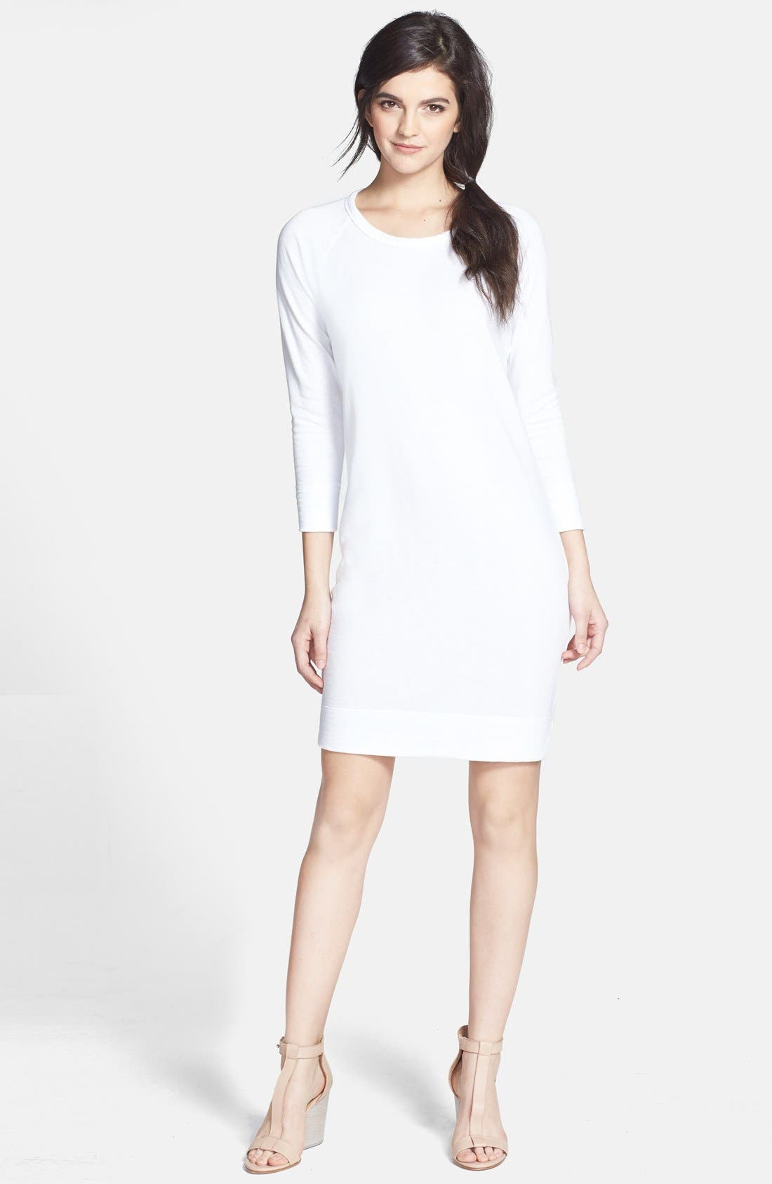 Alternate Image 1 Selected - James Perse Raglan Sleeve Sweatshirt Dress