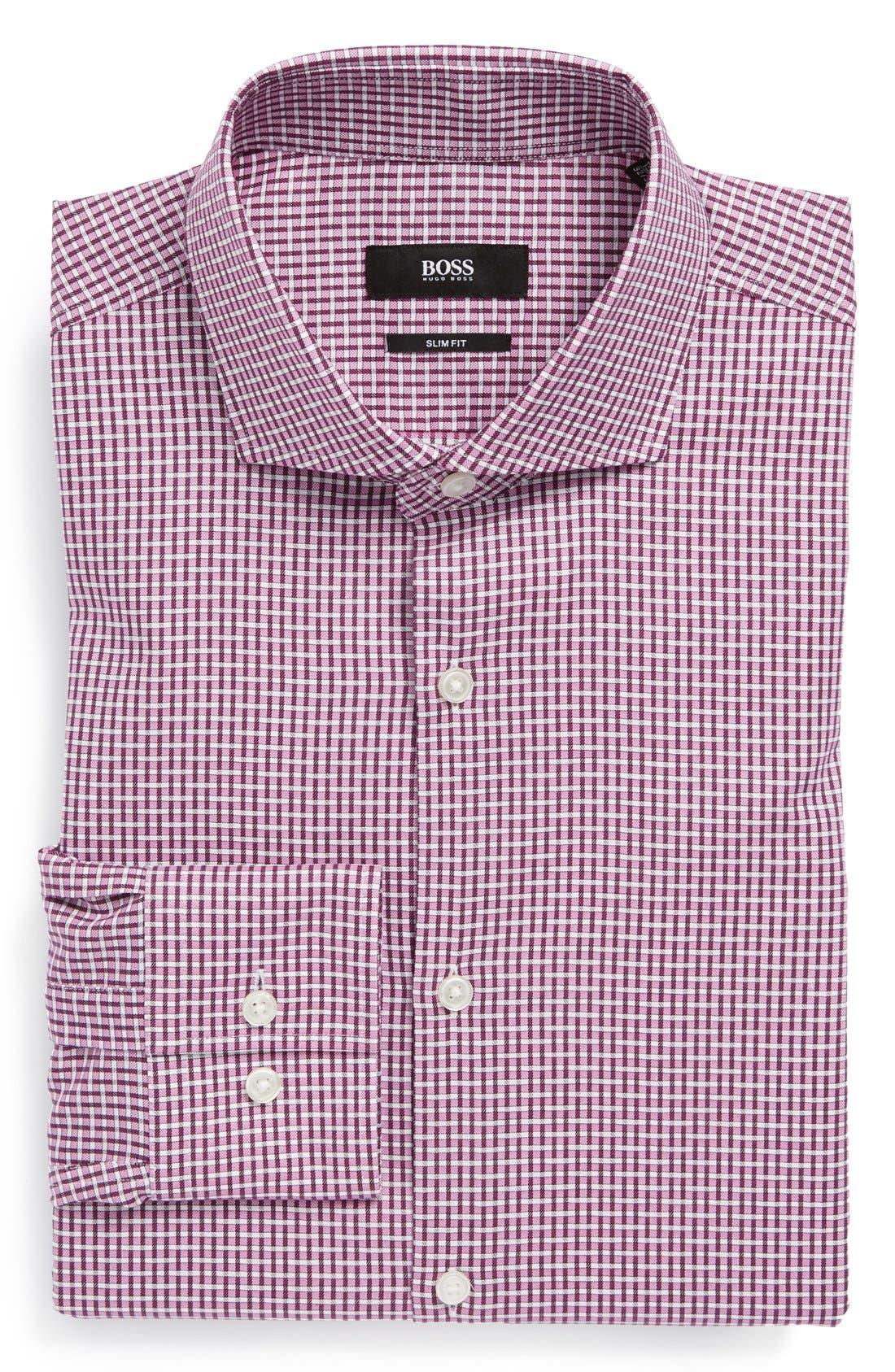 Alternate Image 1 Selected - BOSS HUGO BOSS 'Sanders' Extra Trim Fit Dress Shirt