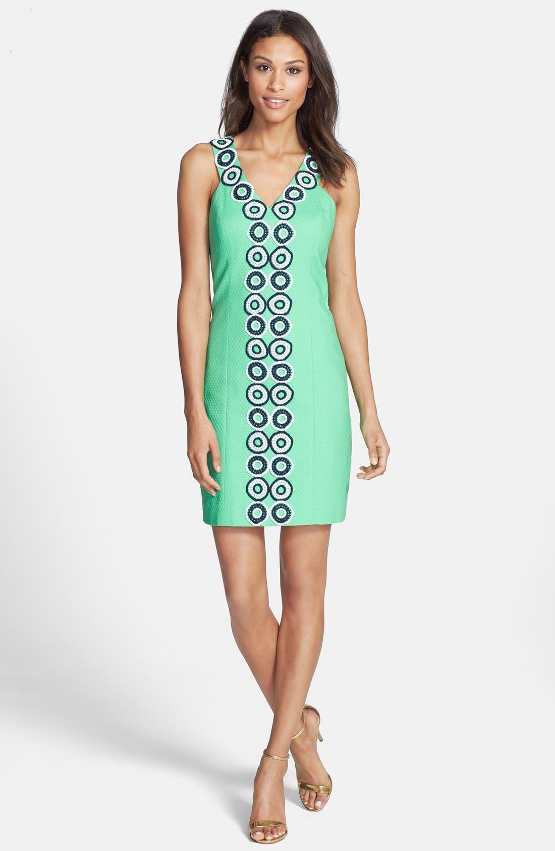 Alternate Image 3  - Lilly Pulitzer® 'Trudy' Lace Trim Jacquard Shift Dress