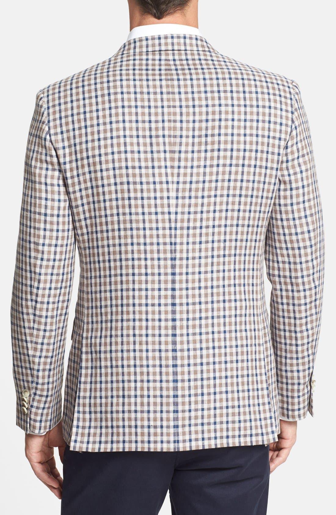Alternate Image 2  - Nordstrom Classic Fit Check Linen Sport Coat (Online Only)