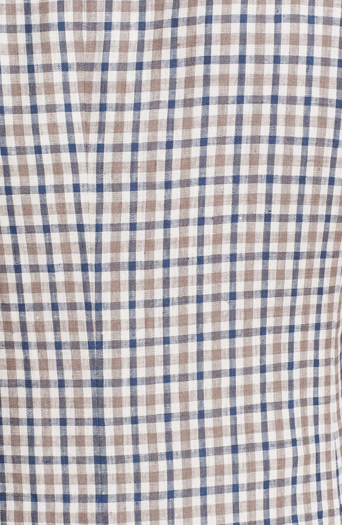 Alternate Image 3  - Nordstrom Classic Fit Check Linen Sport Coat (Online Only)