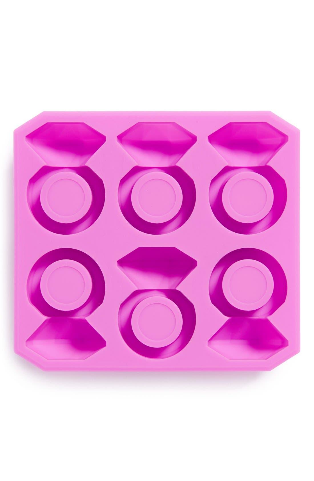 Alternate Image 1 Selected - Kikkerland Design 'Diamond Ring' Silicone Ice Tray