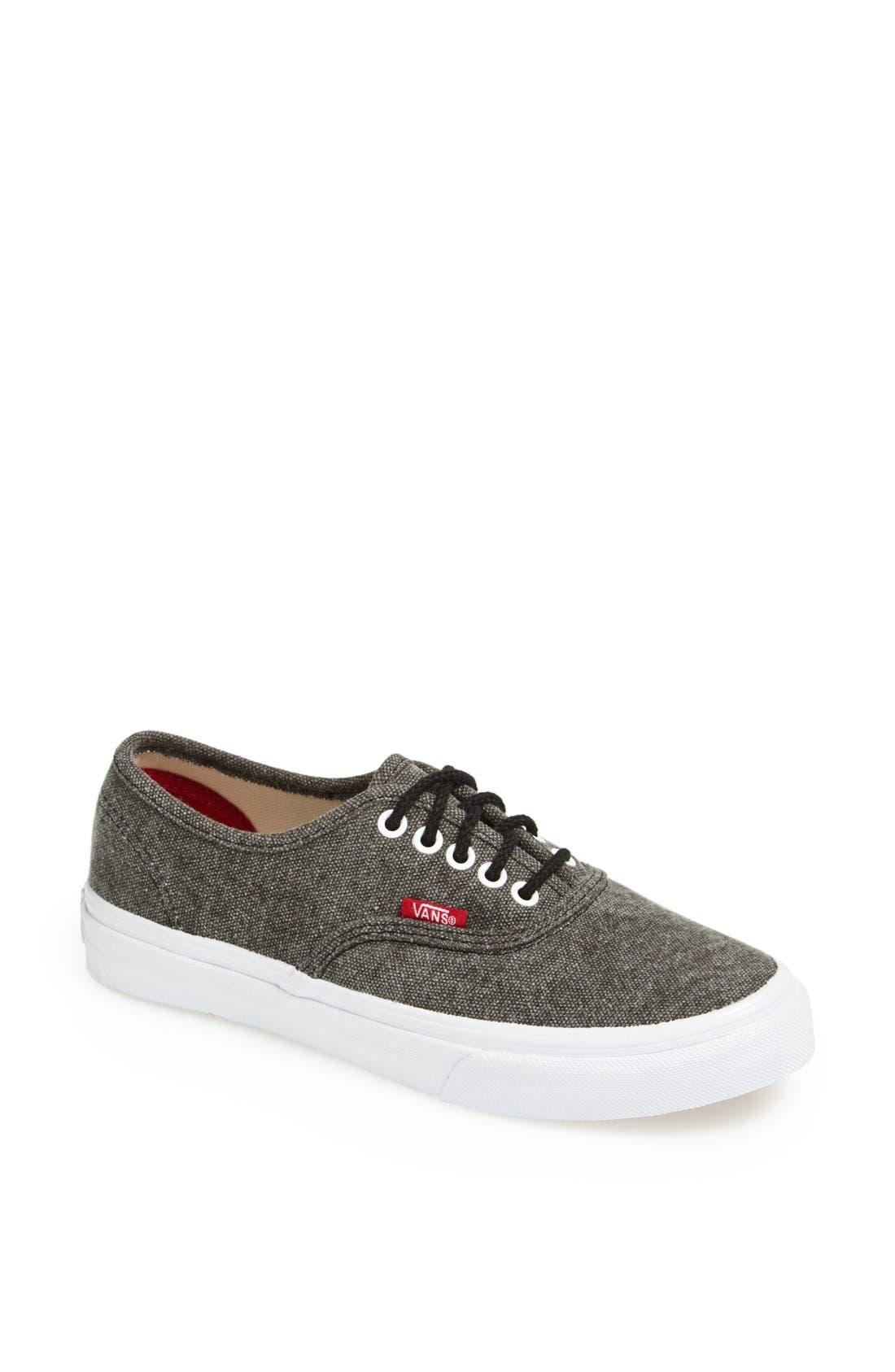 Alternate Image 1 Selected - Vans 'Authentic - Slim' Canvas Sneaker (Women)