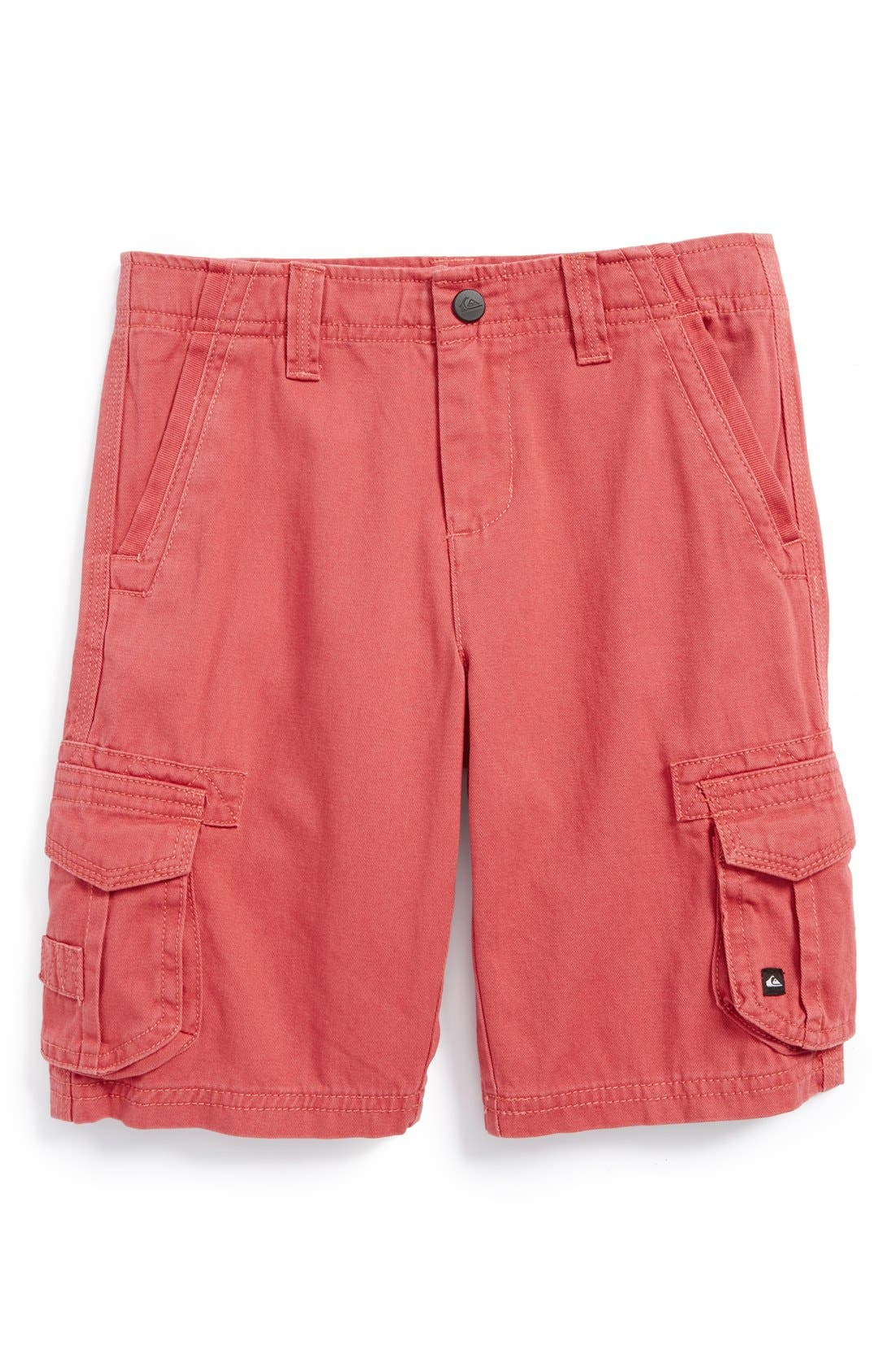 Main Image - Quiksilver 'Deluxe' Cotton Twill Cargo Shorts (Little Boys)