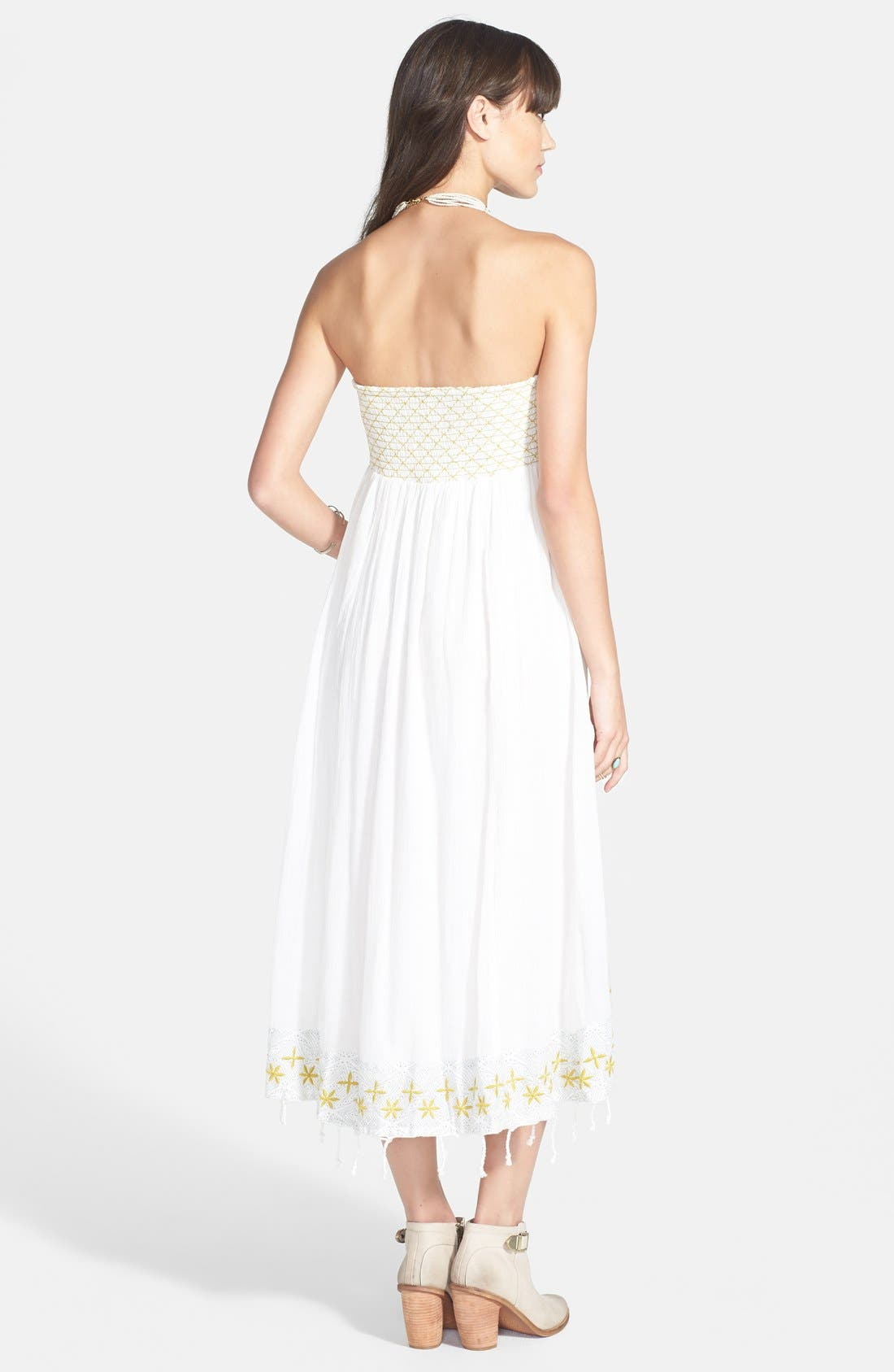 Alternate Image 2  - Free People 'Star of India' Embroidered Strapless High/Low Dress