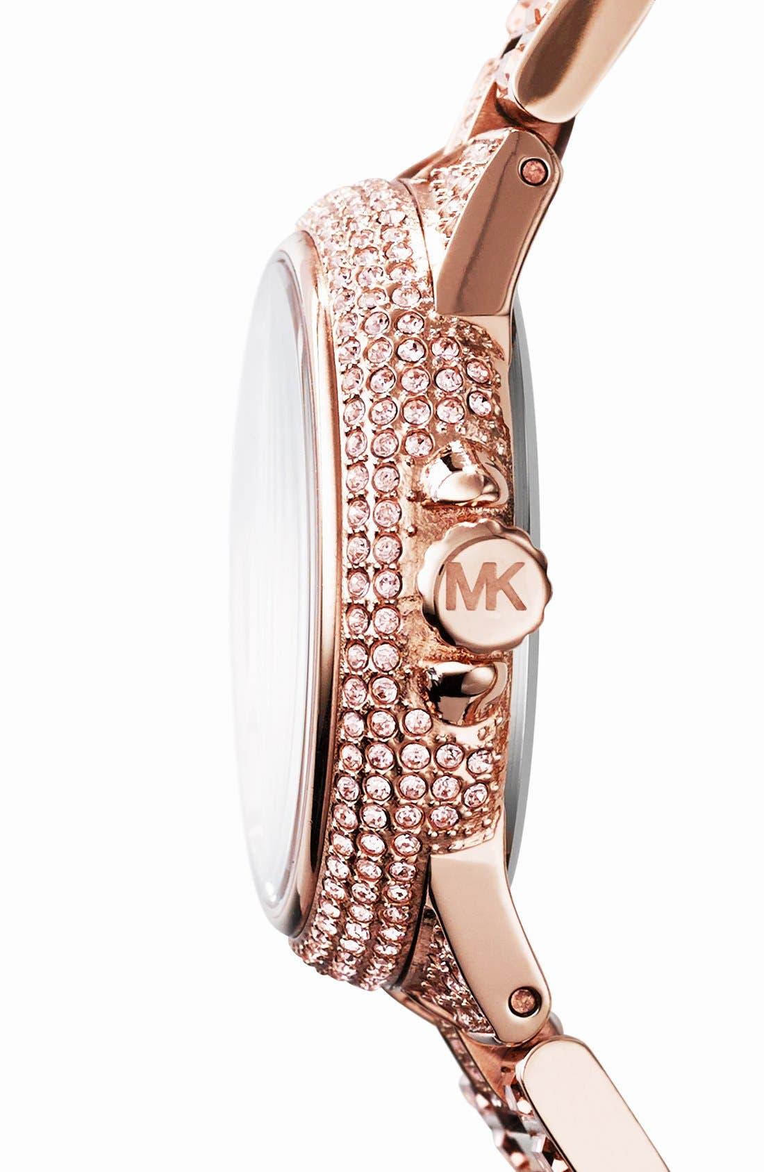Alternate Image 3  - Michael Kors 'Mini Camille' Crystal Encrusted Bracelet Watch, 33mm
