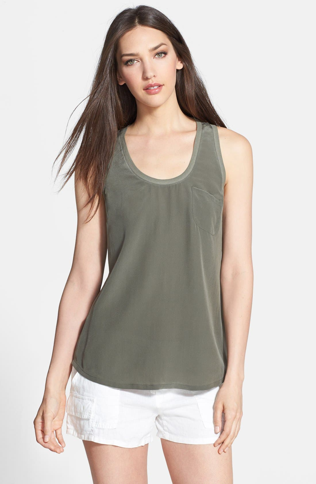 Alternate Image 1 Selected - Joie 'Alicia' Racerback Silk Tank
