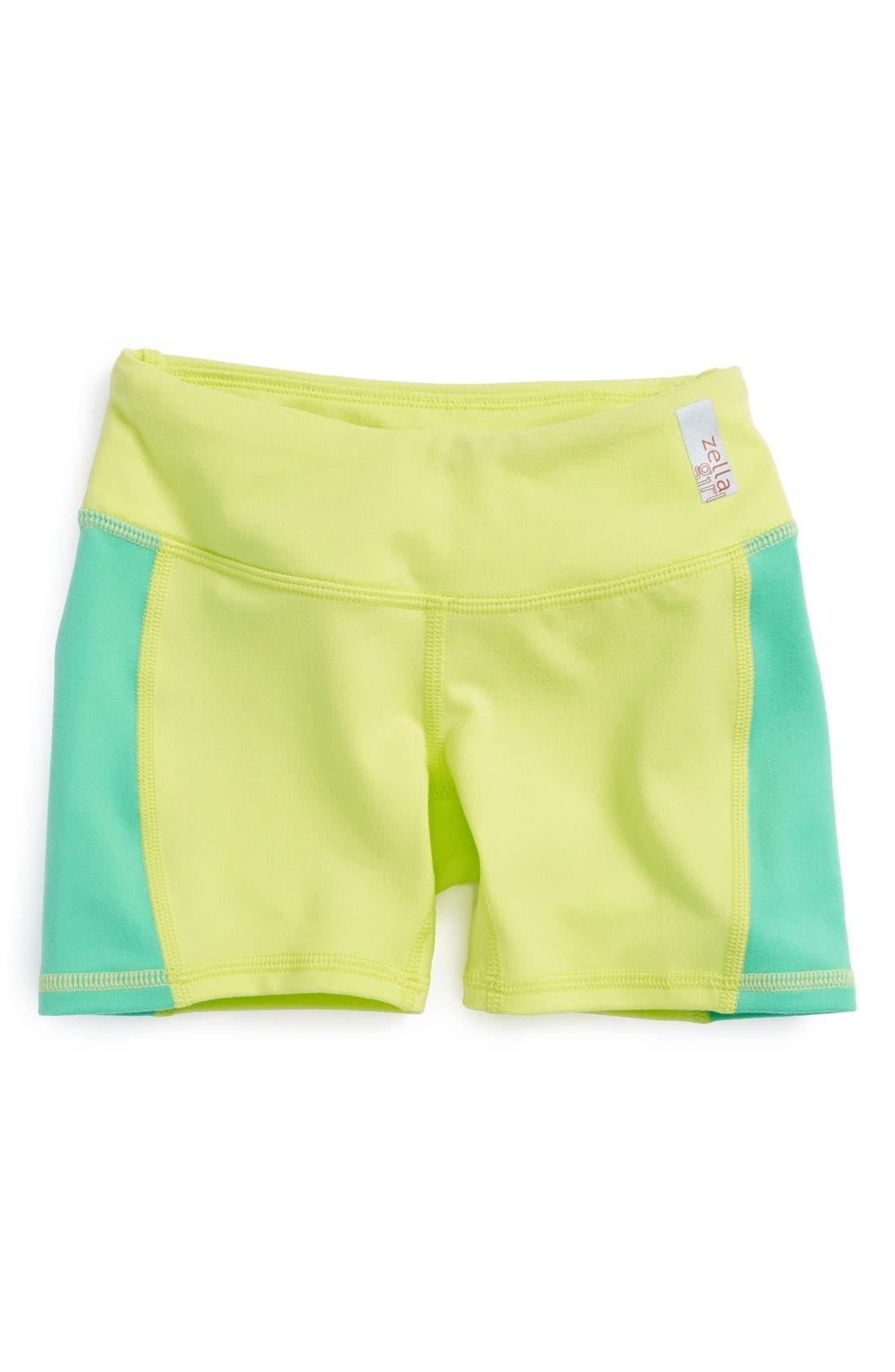 Main Image - Zella Girl 'Kinetic' Shorts (Little Girls & Big Girls)