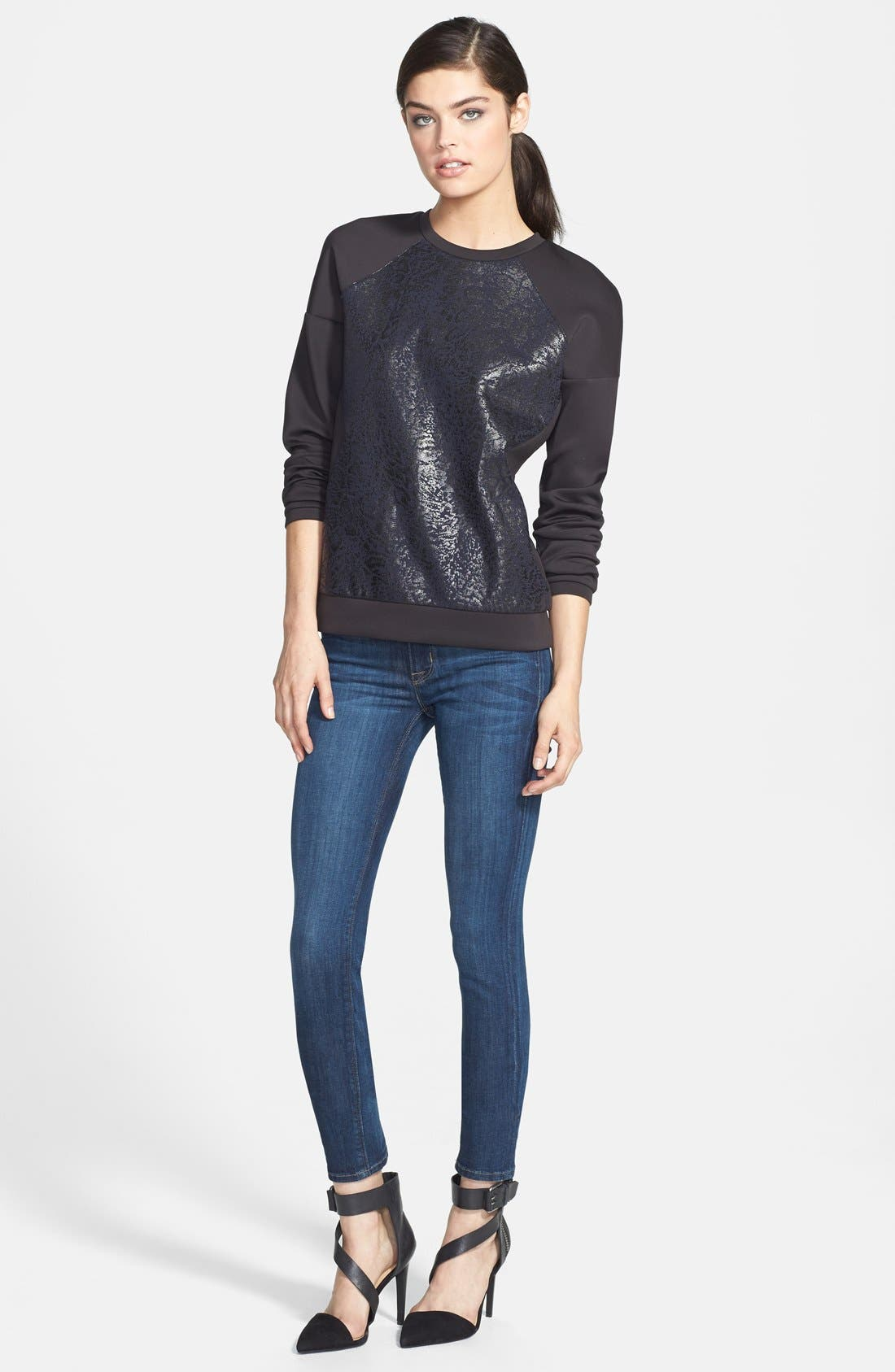 Alternate Image 10  - Hudson Jeans 'Collette' Skinny Jeans (Cascade) (Nordstrom Exclusive)
