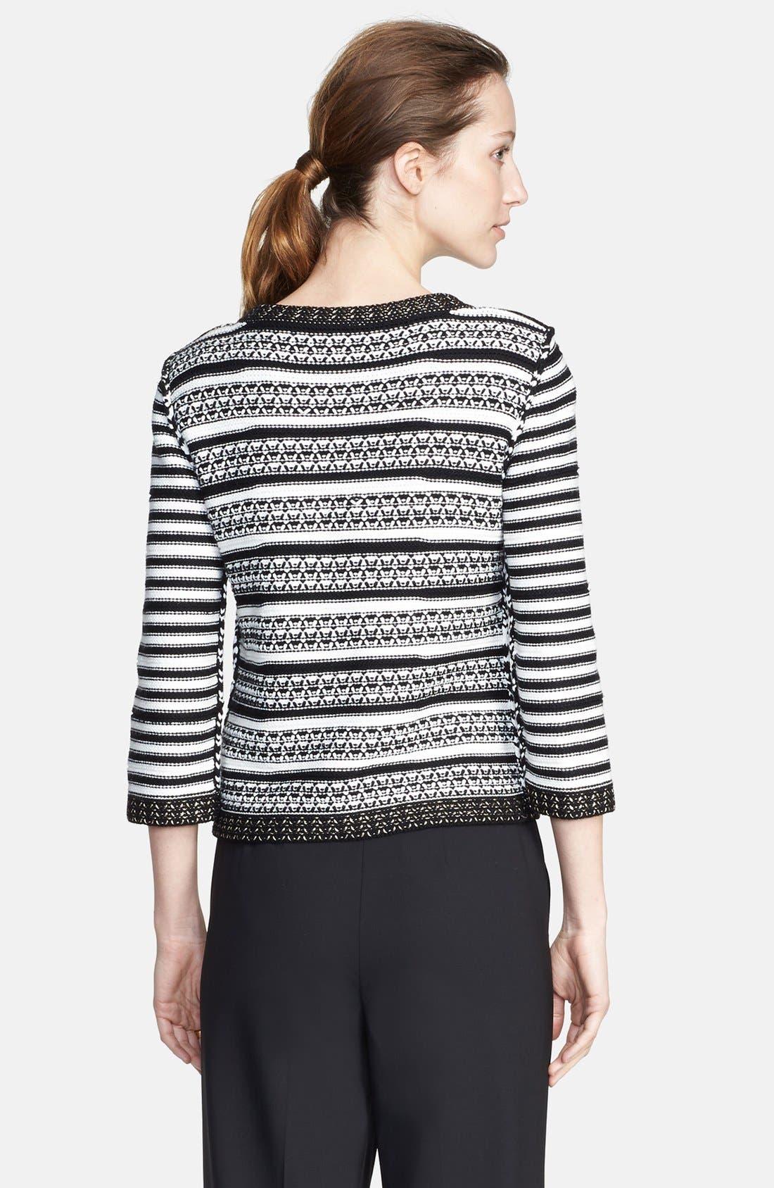 Alternate Image 2  - St. John Collection Stripe Knit Jacket